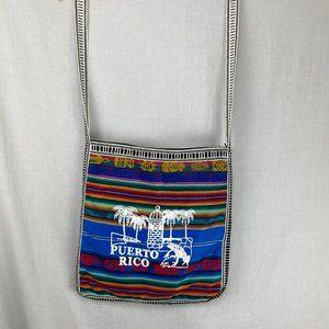 Woven Puerto Rico Souvenir crossbody bag